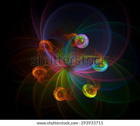 Ferris Wheel abstract illustration  - stock photo