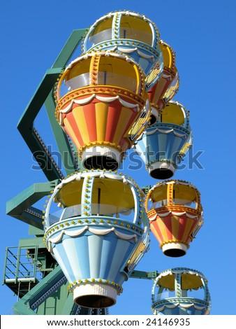 Ferris wheel at a Long Island festival - stock photo