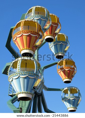Ferris wheel at a Long Island festival - stock photo