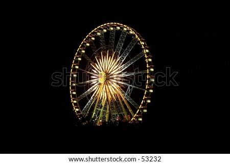 Ferris wheel at night - stock photo