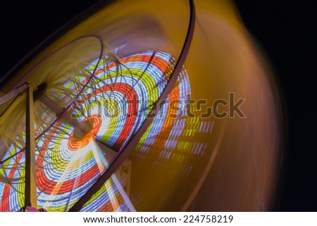 Ferris Wheel at night in the Black Sea, Romania - stock photo