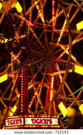 Ferris Wheel Close-up - stock photo