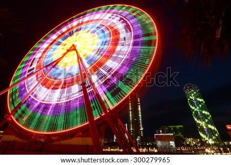 Ferris wheel in Batumi, Georgia - stock photo