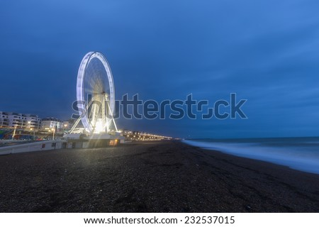 Ferris wheel in Brighton  - stock photo