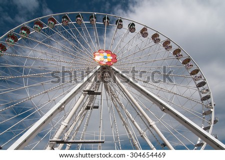 Ferris Wheel in Vienna  - stock photo