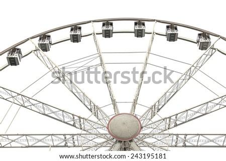 Ferris wheel isolated on white  - stock photo