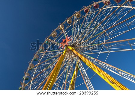 Ferris wheel, large, carnival, fun, activity, leisure