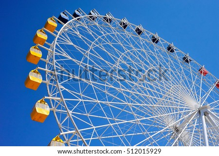 Ferris Wheel on a blue background