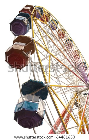 Ferris wheel on a white background