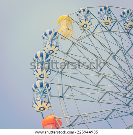 Ferris wheel process vintage instagram effect style picture - stock photo