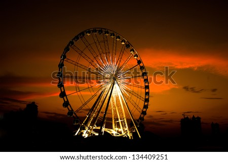 Ferris wheel Sunset.