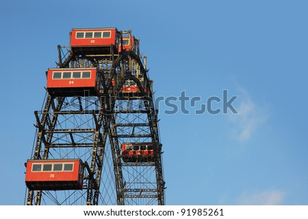 Ferris Wheel Vienna - stock photo
