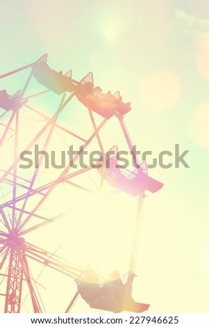 Ferris Wheel with Instagram vintage filter - stock photo