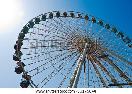 Ferris Wheel with sky above