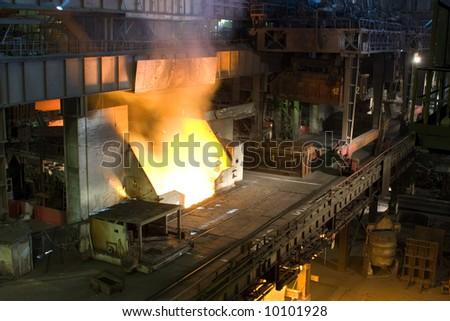 Ferrous metallurgy, manufacture of pig-iron - stock photo