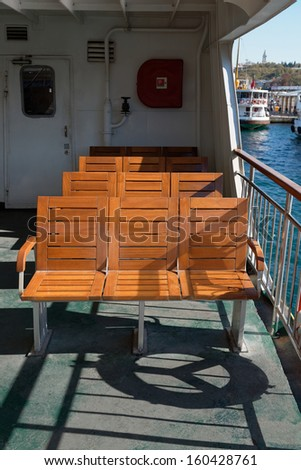 Ferry Chairs, Istanbul / TURKEY - stock photo