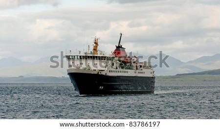 Ferry crossing - stock photo