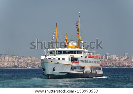 Ferry, Istanbul - stock photo