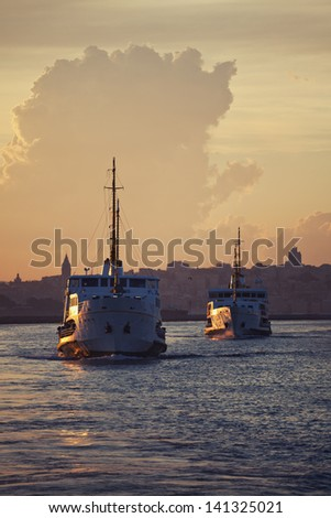 Ferry of Istanbul - stock photo