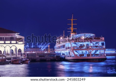 Ferry port in Kadikoy, Istanbul, Turkey  - stock photo