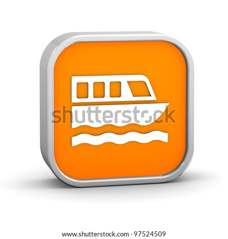 Ferry sign on a white background. Part of a series. - stock photo