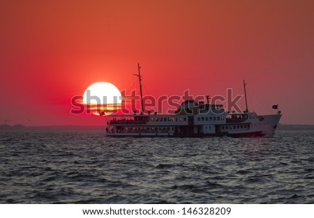 Ferryboat in Istanbul - stock photo