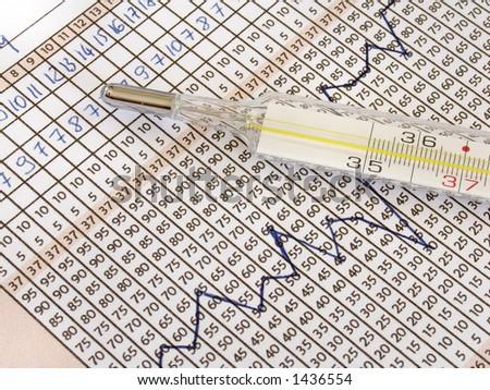 fertility chart - stock photo
