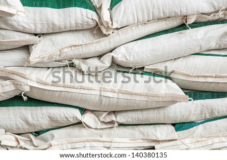 Fertilizer bag - stock photo