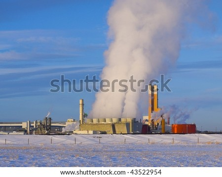 Fertilizer processing plant with  much smoke