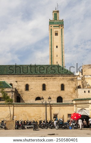 FES, MOROCCO - CIRCA SEPTEMBER 2014: view of old medina in Fes  circa September 2014 in Fes.