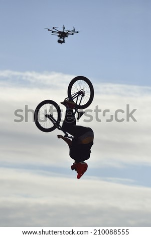 festival bmx contest sport extreme competition - stock photo