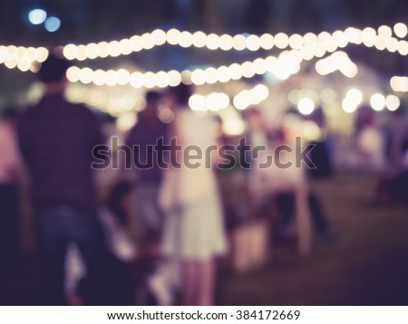 Festival Event Party outdoor with People Blurred Background - stock photo