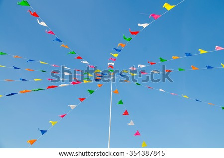 festival flags over the sky