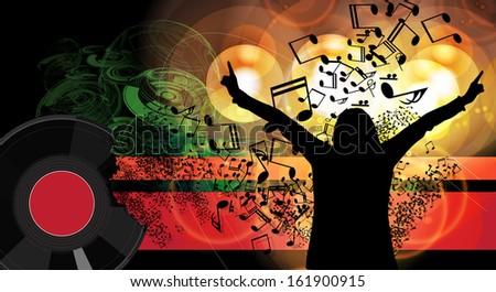 Festival. Music event illustration - stock photo