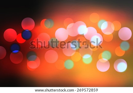Festive abstract background with bokeh lights - stock photo