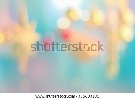 Festive background. Christmas and New Year feast bokeh background with copyspace - stock photo