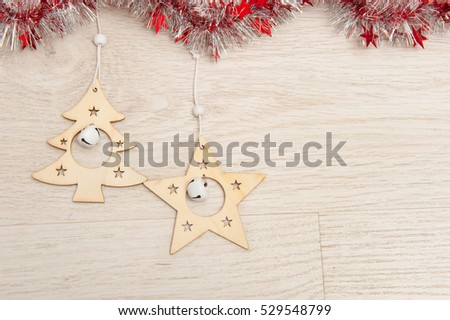 Festive background with Christmas decorations