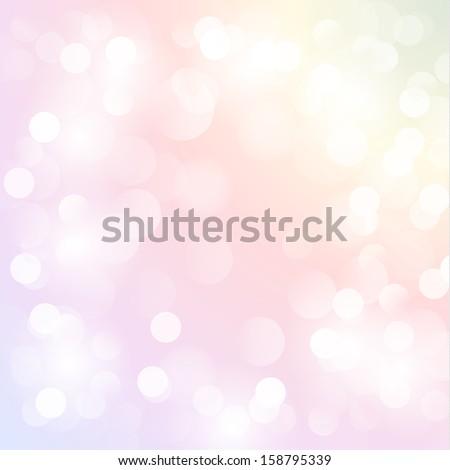 Festive background with defocused lights - raster version - stock photo