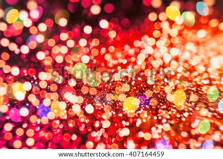 Festive Background With Natural And Bright Golden Lights. Vintage Magic Background With Color - stock photo