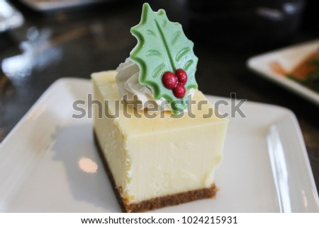 Festive Bite size Cheesecake Piece