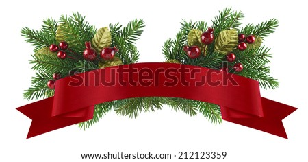 Festive christmas and new year element of design for celebration menu, invitation, poster - stock photo