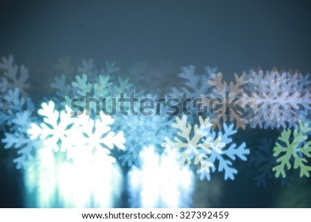 Festive Christmas Background - bokeh of snow flake