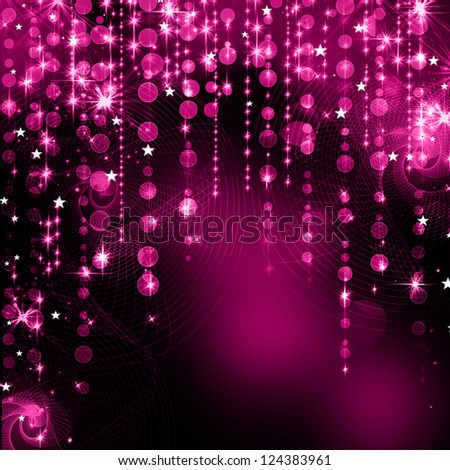 Festive Christmas elegant abstract background with bokeh lights and stars - stock photo