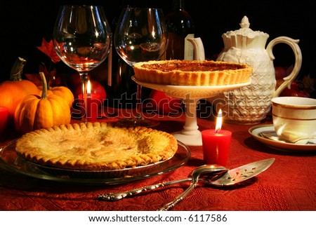 Festive desserts for thanksgiving - stock photo