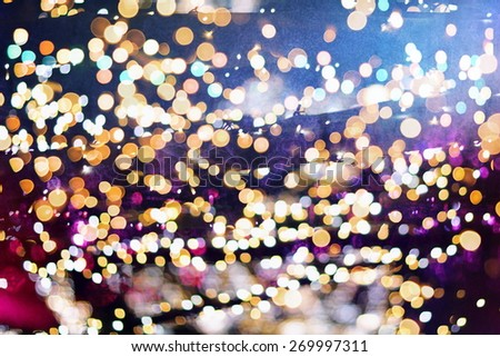Festive elegant abstract background with bokeh lights and stars Texture - stock photo