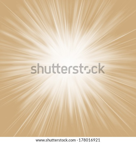 Festive explosion of light  with center in the middle of the square image.  - stock photo