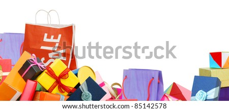 Festive gifts on background