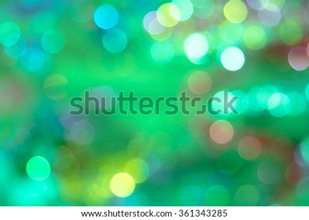 festive green bokeh background