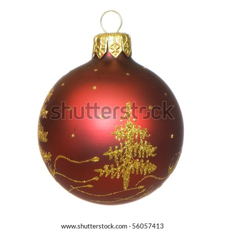 festive marbles on the white isolated background - stock photo