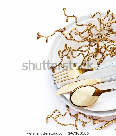 Festive Place Setting - stock photo